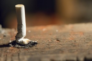 crushed cigarette