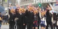 闇遊戯が渋谷を闊歩!「遊戯王デュエルリンクス」CM放送記念プロモーション