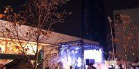 ドコモビルが東京五輪声援メッセージに染まった!「YOYOGI CANDLE 2020」が開催