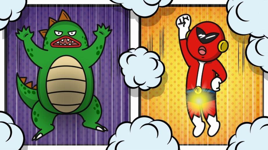 ビンビン赤レンジャーと海外偽造薬でフニャった怪獣のコミカルムービー