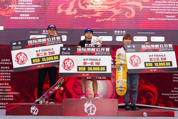 スケートボード国際オープンにて日本女子が表彰台を独占!岡本碧優が優勝!四十住さくら2位!中村貴咲3位!
