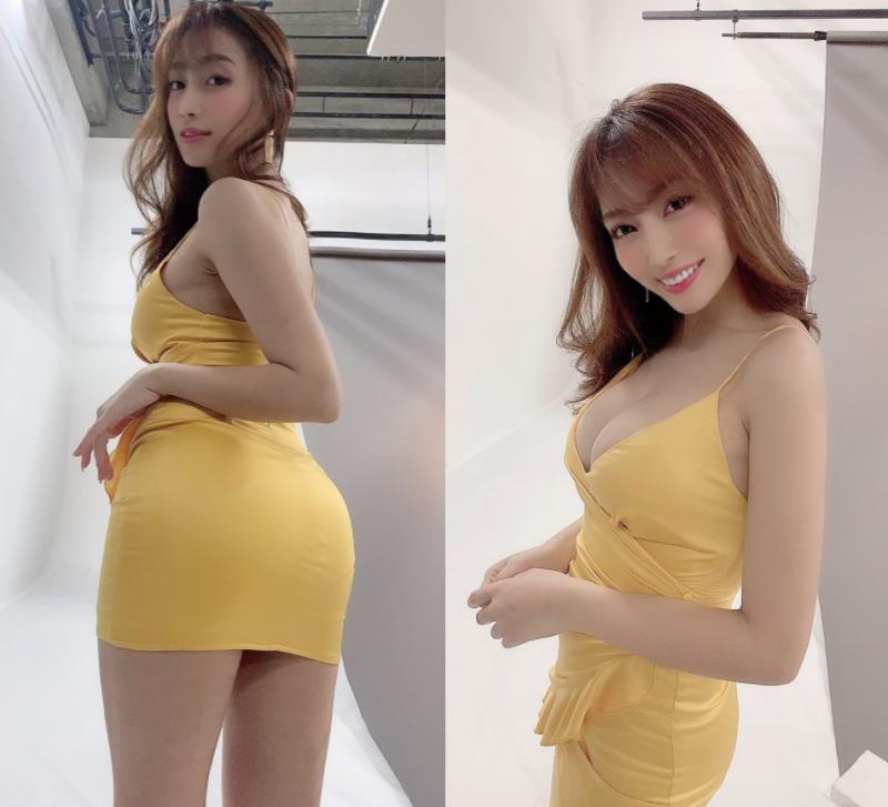 Gカップ・森咲智美、セクシードレスのバスト&ヒップでファンをメロメロに!