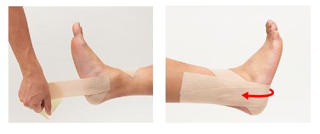 ニチバン バトルウィン「足首の内反捻挫(ねんざ)予防(動きやすさ優先編)」